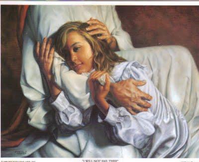 christ comforts me